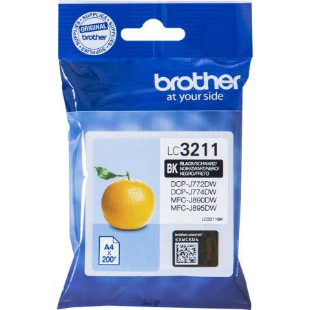 Tinteiro Brother Original LC3211BK Preto