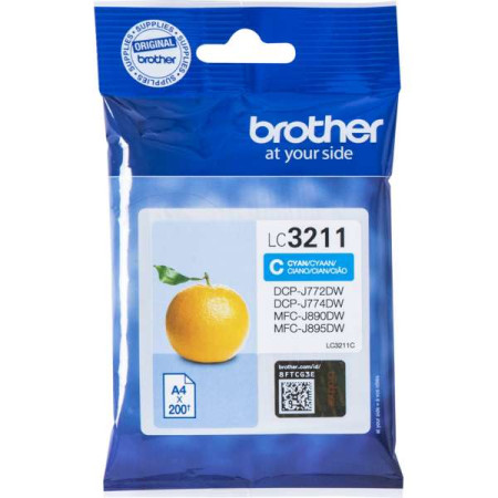Tinteiro Brother Original LC3211C Azul