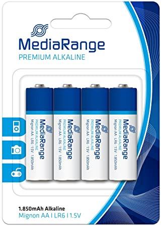 Pilhas Mediarange Alcalinas LR6 (AA) - Pack 4