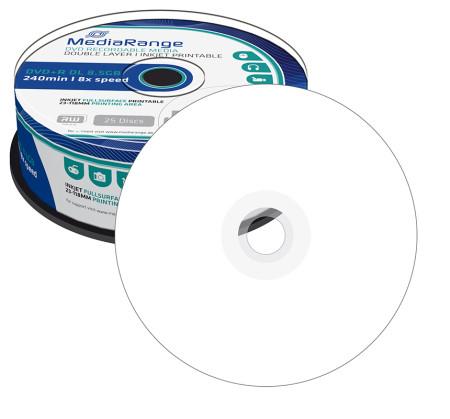 DVD+R DL 8.5GB MediaRange Imprimível 8X - Pack 25   - ONBIT