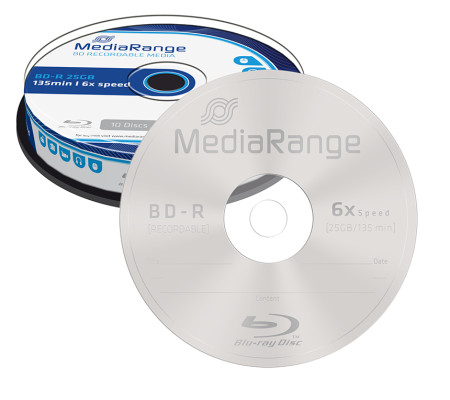BD-R 25GB 6X MEDIARANGE BLU-RAY - Pack 10   - ONBIT