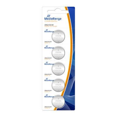 Pilhas de Lítio MediaRange Cell   CR2016 3V - Pack5  MRBAT136 - ONBIT
