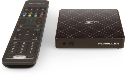 Receptor IPTV Formuler Z7+ 4K Android Preta