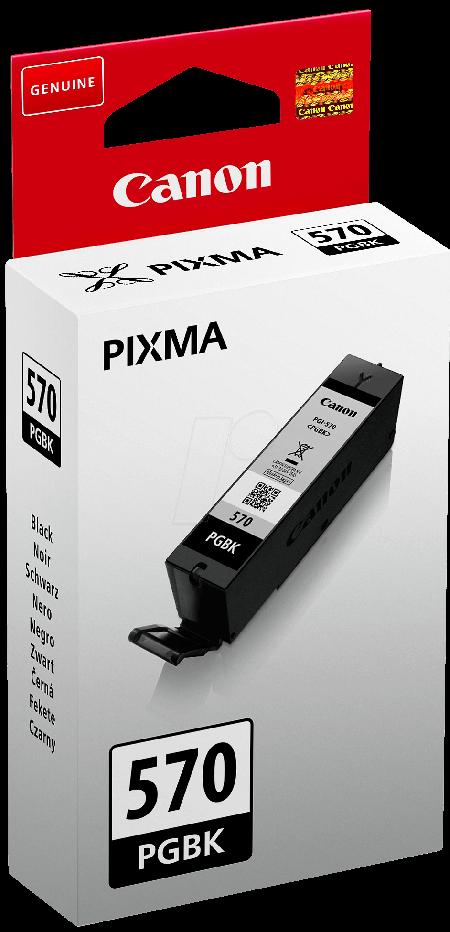 Tinteiro Canon PGI-570 BK Preto Original (0372C001)