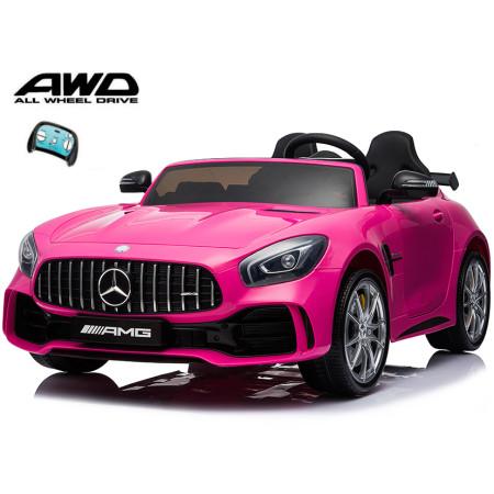 Carro Elétrico Mercedes AMG GTR XL 24V Bateria c/ Comando Rosa