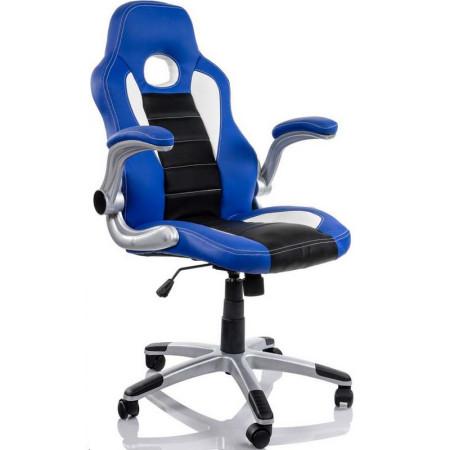 Cadeira Gaming Fantech Easy Preta/Azul