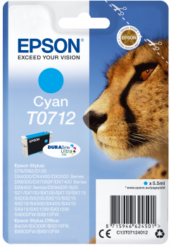 Tinteiro Epson T0712 Azul Original Série Chita (C13T07124012)