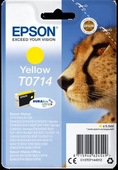 Tinteiro Epson T0714 Amarelo Original Série Chita (C13T07144012)
