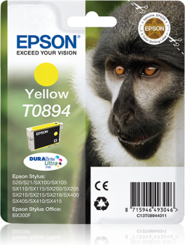 Tinteiro Epson T0894 Amarelo Original Série Macaco (C13T08944011)