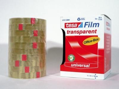 Fita Adesiva Transparente Tesa 15mm x 66 metros - Pack 10