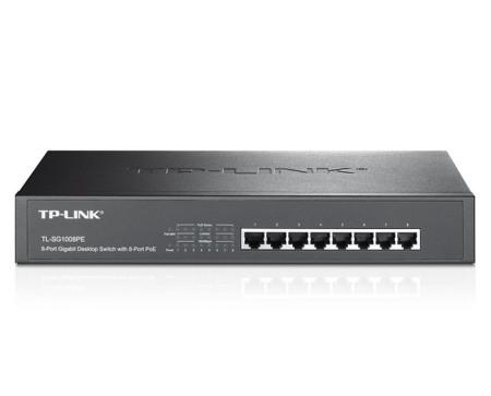 Switch TP-Link de Mesa/Rack Gigabit com 8 Portas PoE+ TL-SG1008PE