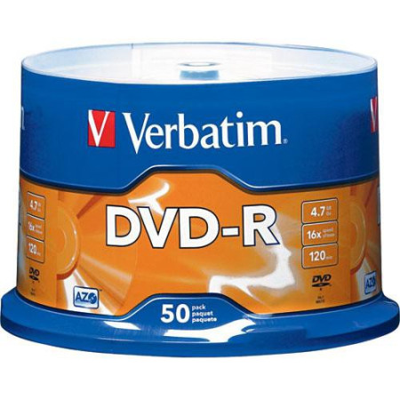 DVD-R Verbatim 16X - Pack 50