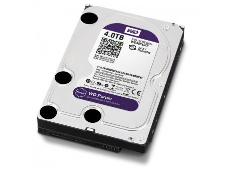 Disco Rígido Western Digital Purple 4TB 3.5´ 64MB Cache (WD40PURZ)