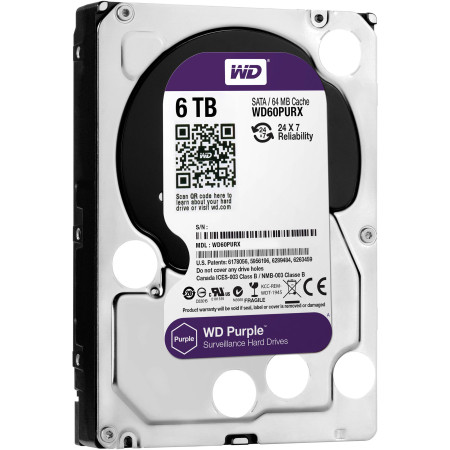 Disco Rígido Western Digital Purple 6TB 3.5´ 64MB Cache (WD60PURX)