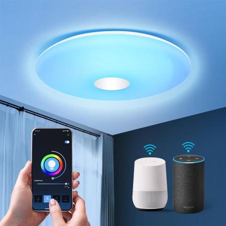 Luz de Teto LED Inteligente Wifi 18W RGB+CCT Aigostar