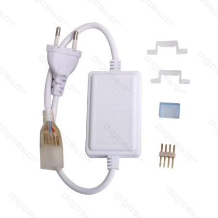 Alimentador para Fita LED RGB c/Conector e suportes