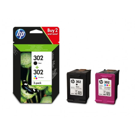 HP 302 Combo-pack Preto/Tri-color Original   - ONBIT