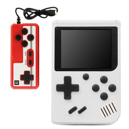 Consola Portátil Clássica 400 Jogos + Gamepad Branca
