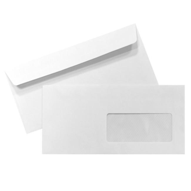 Envelope dl com janela 110x220 silicone 90gr caixa 500 for Enveloppe fenetre