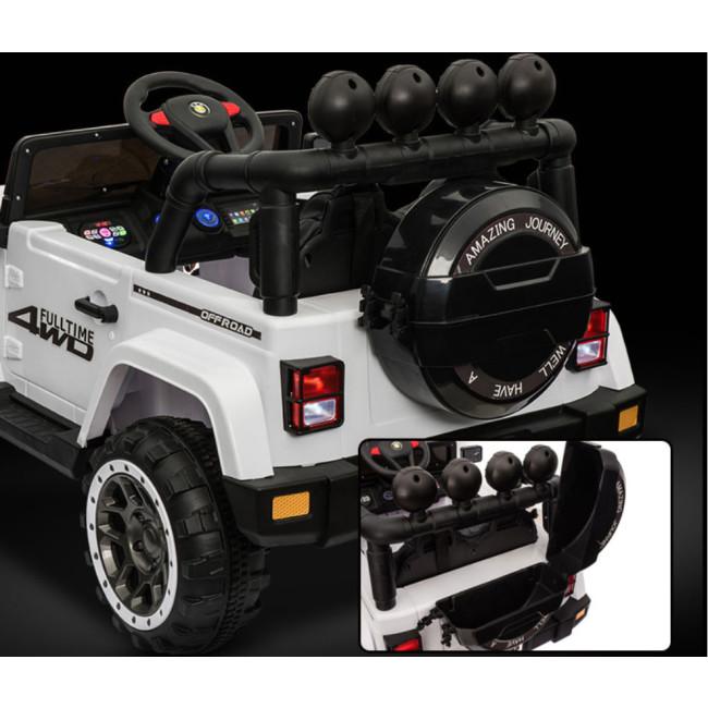 2f7b05162e618 Carro Elétrico Jeep FullTime 4x2 12V Bateria c  Comando Branco - na ...