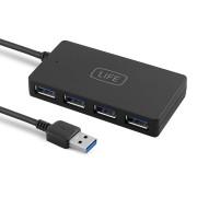 HUB 4 Portas USB 3.0 1Life usb:hub 4
