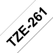Fita Laminada Compatível Brother TZE-261 - 36mm x 8 metros Preto/Branco