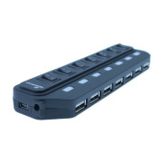 Mediarange HUB 7 Portas USB 2.0 com Power e Interruptores Separados  MRCS504 - ONBIT