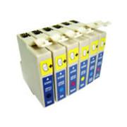 Conjunto de 6 Tinteiros Compatíveis Epson T0801/2/3/4/5/6 - Default