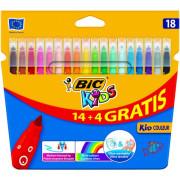 Marcadores Coloridos de Felcro BIC Kids 18 Cores