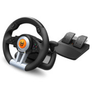 Volante + Pedais Nox Krom K-Wheel Multiplataforma