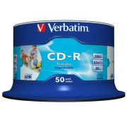 CD-R Verbatim Imprimível 52x - Pack 50  43438 - ONBIT