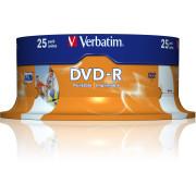 DVD-R Verbatim Imprimíveis 16X - Pack 25   - ONBIT