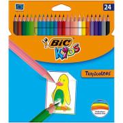 Lápis de Cor 18cm BIC Kids Tropicolors 24 unidades