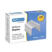 Agrafes Rapesco galvanizados - 26/6 - 5000 unidades