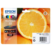 Conjunto 5 Tinteiros Epson 33 Originais Série Laranjas (C13T33374021)