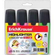 Marcador fluorescente Visioline V-12 ErichKrause - Pack 4 cores  EK 37072 - ONBIT