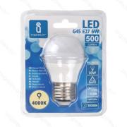 Lâmpada LED E27 6W 4000K Luz Natural A5 G45 Aigostar