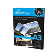 Papel Fotográfico A3 200g Brilhante MediaRange (50 folhas)  MRINK109 - ONBIT