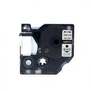 Fita Compatível Dymo D1 45010 - 12mm x 7 metros Preto/Transparente S0720500