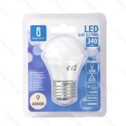 Lâmpada LED E27 4W 4000K Luz Natural A5 G45 Aigostar