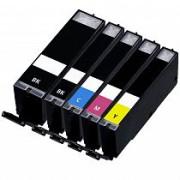 Conjunto 5 Tinteiros Canon Compatíveis PGI-570BK/CLI-571BK/CLI-571C/CLI-571M/CLI-571Y