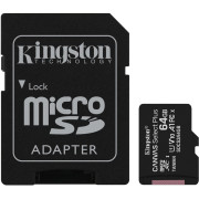 Cartão Memória Kingston Canvas Select Plus C10 A1 UHS-I microSDHC 64GB + Adaptador SD