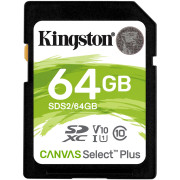 Cartão Memória Kingston Canvas Select Plus C10 U3 V30 UHS-I SDHC 64GB