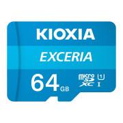 Cartão Memória Kioxia Exceria C10 UHS-I U1 microSDHC 64GB + Adaptador SD