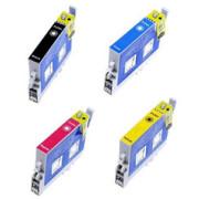 Conjunto de 4 Tinteiros Compatíveis Epson T0611/2/3/4