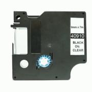 Fita Compatível Dymo D1 40910 - 9mm x 7 metros Preto/Transparente S0720670