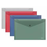 Envelope PP A4 c/ Mola ErichKrause - Pack 12 unidades cores sortidas