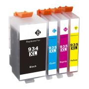 Conjunto 4 Tinteiros Compatíveis HP 934 XL / 935 XL
