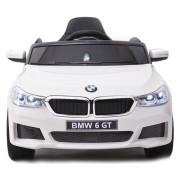 Carro Elétrico BMW 6 GT 12V Bateria c/ Comando Branco