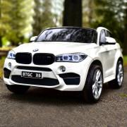 Carro Elétrico BMW X6M Sport XXL 12V/45W Bateria c/ Comando Branco